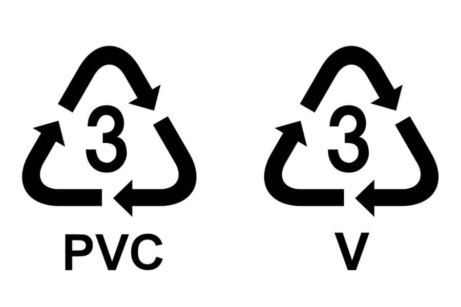 סימני מיחזור של PVC